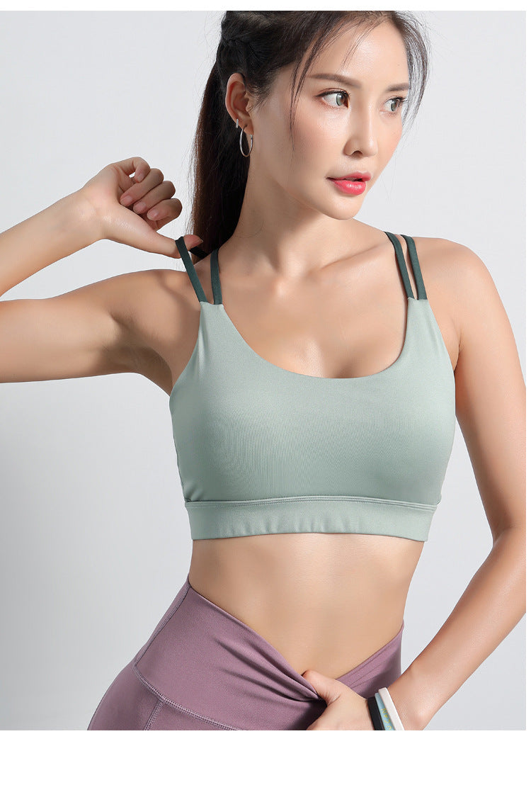 Strappy Criss Cross Back Sports Bra