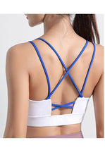 Load image into Gallery viewer, Strappy Criss Cross Back Sports Bra