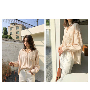 Vintage Loose Fitting Notched Shirt