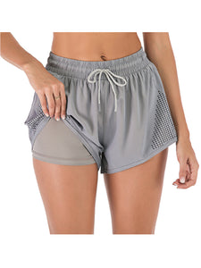 Summer Double Layer Shorts With Engineered Ventilation