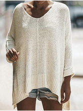 Load image into Gallery viewer, Loose Bat Sleeve Off Shoulder Knit Tunic