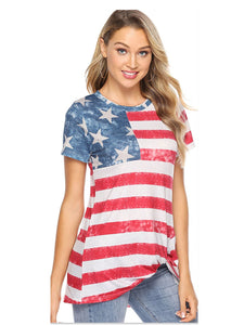 American Flag T-Shirt Casual Top