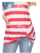 Load image into Gallery viewer, American Flag T-Shirt Casual Top