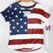 Load image into Gallery viewer, All American Girl V Neck Top