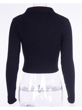 Load image into Gallery viewer, Knitted Half Turtleneck Sweater Top