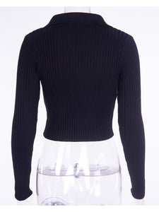 Knitted Half Turtleneck Sweater Top