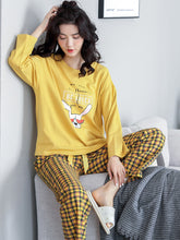 Load image into Gallery viewer, Cotton Long Sleeve Cartoon Home Clothes