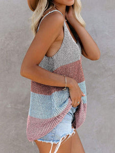 Summer Round Neck Knitted Tank