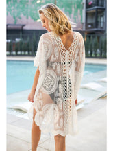 Load image into Gallery viewer, Lace Crochet Bikini Cover-Up