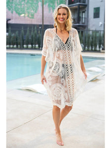 Lace Crochet Bikini Cover-Up