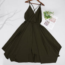 Load image into Gallery viewer, Handkerchief  Maxi Backless Strap Dress