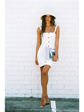 Load image into Gallery viewer, Summer Fashion Button Apron Dress