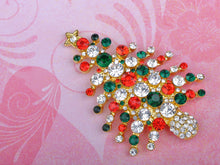 Load image into Gallery viewer, Winter Christmas Tree Noel Holiday Pin Brooch