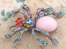 Load image into Gallery viewer, Artistic Colorful Austrian Bead Spider Pin Brooch