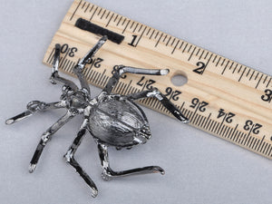 Gun Black Widow Spider Brooch Pin