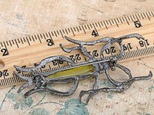 Load image into Gallery viewer, Gun Light Green Water Strider Insect Bug Brooch Pin