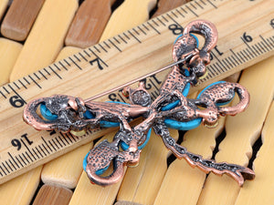 Turquoise Ruby Dragonfly Pin Brooch