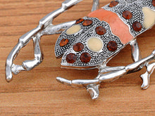 Load image into Gallery viewer, Enamel Topaz Beetle Bug Insect Pin Brooch