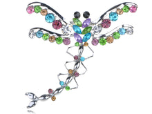 Load image into Gallery viewer, Austrian Colorful Dragonfly Pin Brooch