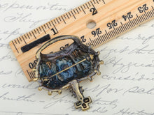 Load image into Gallery viewer, Topaz Antique King Crown Pageant Pin Brooch