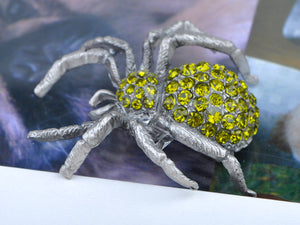 Vintage Repro Peridot Spider Jewelry Pin Brooch