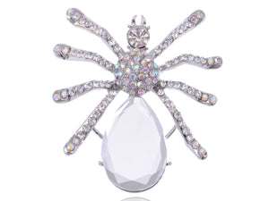 Iridescent Halloween Spider Brooch Pin