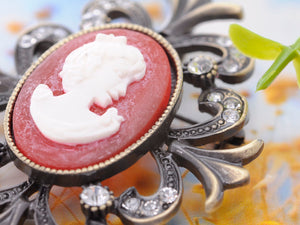 Vintage Reproduction Cameo Maiden Jewelry Pin Brooch