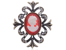 Load image into Gallery viewer, Vintage Reproduction Cameo Maiden Jewelry Pin Brooch