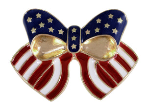 4th Of July American USA Flag Pin Brooch