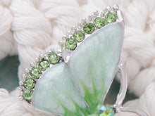Load image into Gallery viewer, Austrian Peridot Color Enamel Butterfly Jewelry Pin Brooch