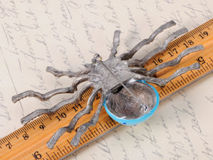 Extra Blue Bodied Vintage Daddy Long Leg Spider Pin Brooch