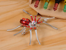 Load image into Gallery viewer, Enamel Spider Jewelry Pin Brooch