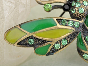Peridot Green Ladybug Fly Insect Jewelry Brooch Pin