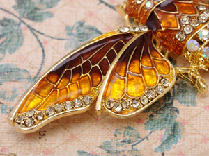 Iridescent Colored Insect Moth Brooch Pin