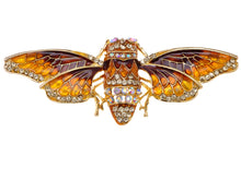 Load image into Gallery viewer, Iridescent Colored Insect Moth Brooch Pin