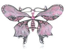 Load image into Gallery viewer, Vintage Repro Rose Pink Butterfly Jewelry Pin Brooch