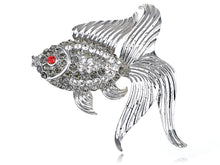 Load image into Gallery viewer, Czech Fish Fish Pin Brooch