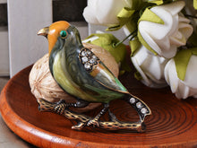 Load image into Gallery viewer, Antique Colored Multi Bird Sparrow Brooch Pin