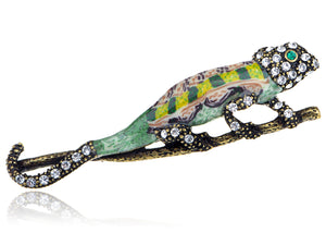 Epoxy Enamel Painted Lizard Animal Jewelry Pin Brooch
