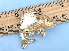 Load image into Gallery viewer, Asian Koi Gold Fish Carp Enamel Rose Pink Animal Pin Brooch