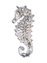 Load image into Gallery viewer, Aurora Borealis Seahorse Fish Convertible To Pendant Animal Brooch Pin