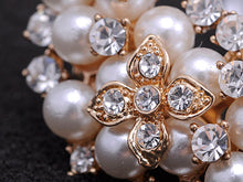 Load image into Gallery viewer, Pearl Flower Cluster Pin Brooch
