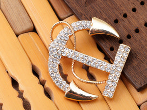Contemporary Accented Anchor Pin Brooch