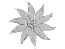 Load image into Gallery viewer, Glamour Pearlescent Enamel Painted Flower Petals Pin Brooch