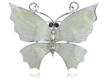 Load image into Gallery viewer, Hand Paint Pearlescent Enamel Wing Czech Butterfly Pin Brooch