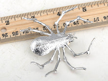 Load image into Gallery viewer, Pale Blue Spider Insect Brooch Pin