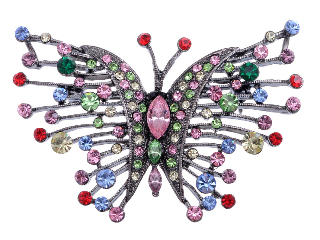 Irresistible Multi Color Butterfly Brooch Pin