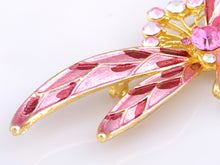 Load image into Gallery viewer, Superb Rose Pink Cat Eye Dragonfly Jewelry Pin Brooch
