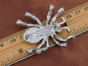 Pale Blue Spider Insect Brooch Pin