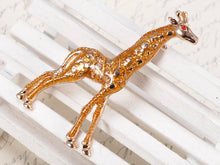 Load image into Gallery viewer, Yellow Animal Giraffe Spotted Texture Brooch Pin